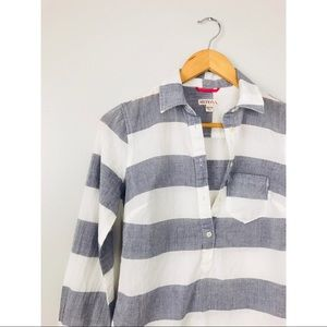 Merona Tops - Blue/White Striped Tunic XS